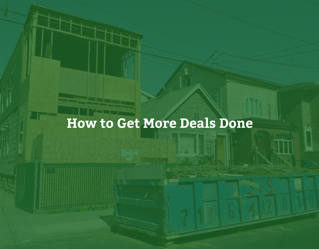 How to Get More Deals Done